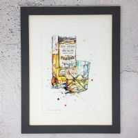 Kathryn Callaghan A Wee Night Cap Framed Print